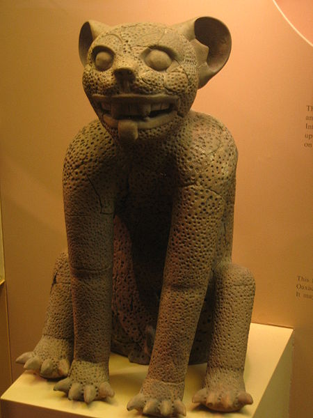 Jaguar assis, culture Zapotèque